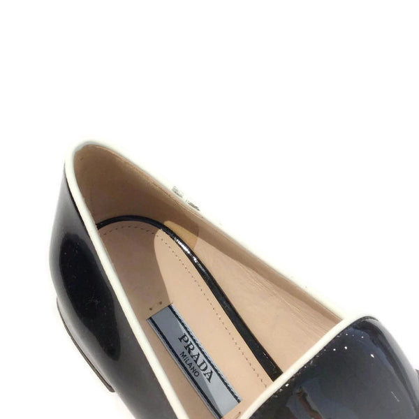 Black Tassel Loafer Flats by Prada scuff