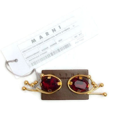 Ruby Strass Clip On Stud by Marni