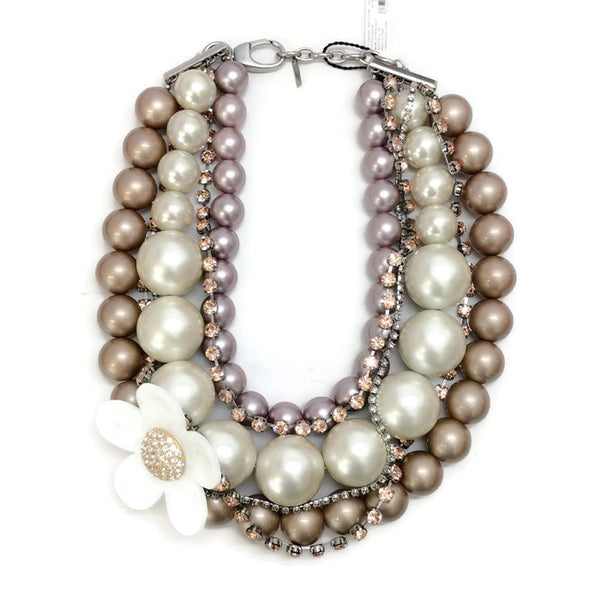 Daisy Pearl Statement Necklace by Marc Jacobs