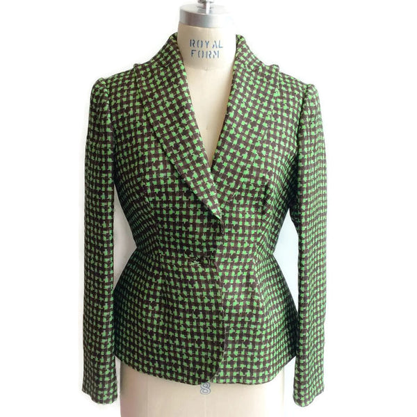 Houndstooth Triple Organza Jacket front