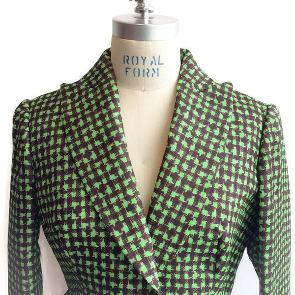Houndstooth Triple Organza Jacket front top