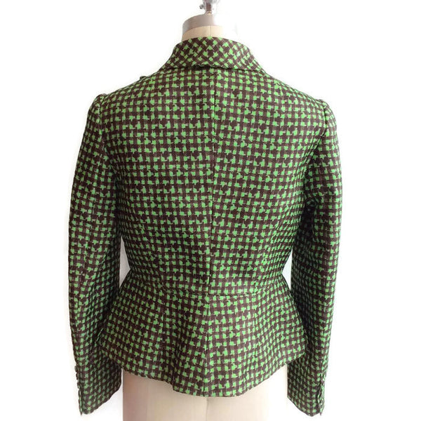 Houndstooth Triple Organza Jacket back