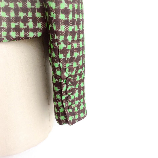 Houndstooth Triple Organza Jacket sleeve