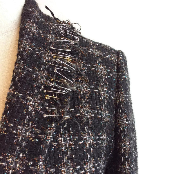 Embellished Tweed Dress by Sonia Rykiel shoulder