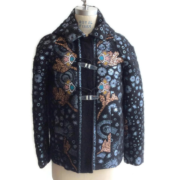 Mohair Embroidered Coat by Peter Pilotto front