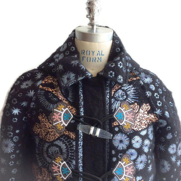 Mohair Embroidered Coat by Peter Pilotto front top