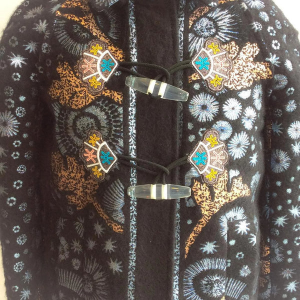 Mohair Embroidered Coat by Peter Pilotto toggles