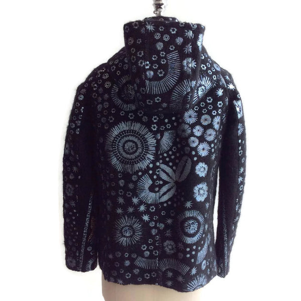 Mohair Embroidered Coat by Peter Pilotto back