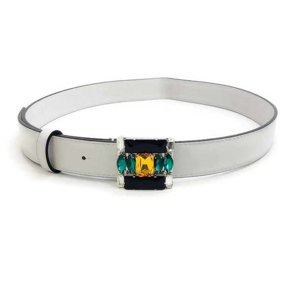Beveled Crystal Buckle Belt by Marni