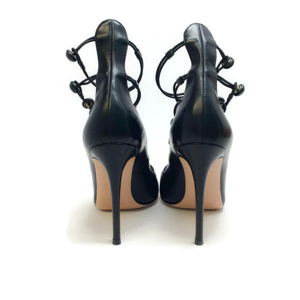 Marquis Black Pumps by Gianvito Rossi back
