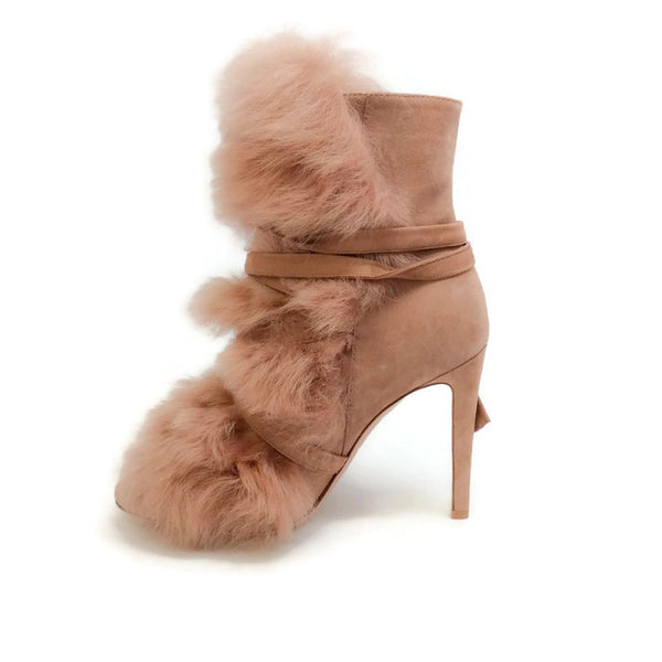 Moritz Praline Boots by Gianvito Rossi inside