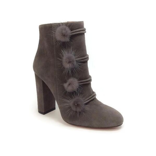 Ulyana Gray Suede Boots by Aquazzura