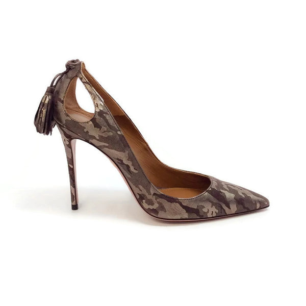 Forever Marilyn 105 Camo Pumps by Aquazzura outside