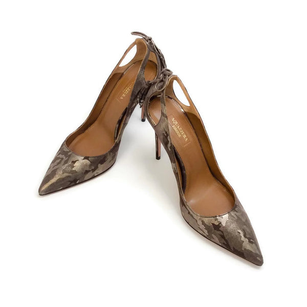 Forever Marilyn 105 Camo Pumps by Aquazzura pair