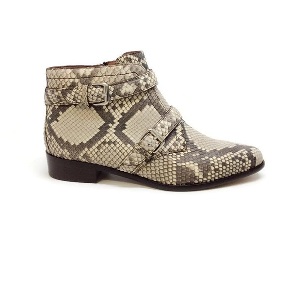Windle 2 Strap Python Booties by Tabitha Simmons outside