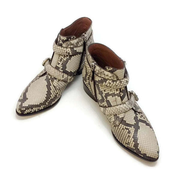 Windle 2 Strap Python Booties by Tabitha Simmons pair