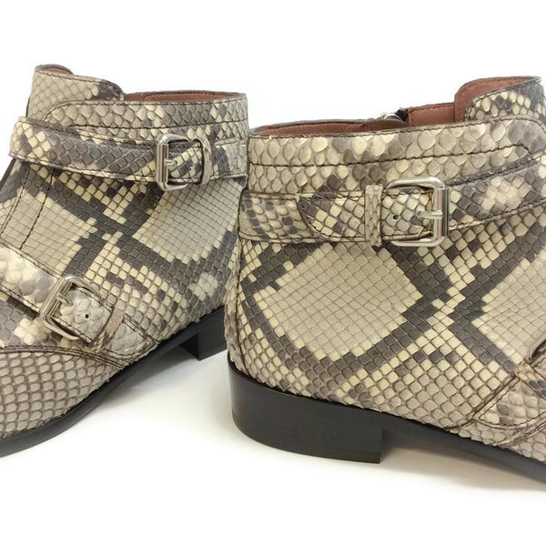 Windle 2 Strap Python Booties by Tabitha Simmons heel