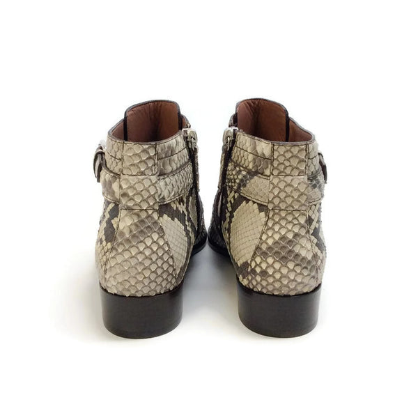 Windle 2 Strap Python Booties by Tabitha Simmons back