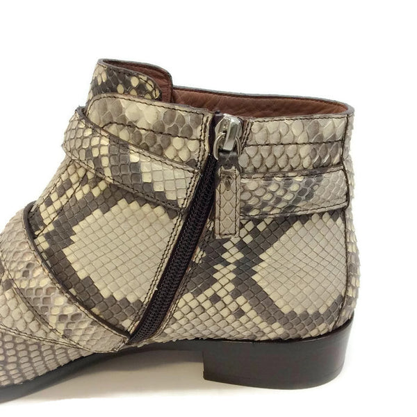 Windle 2 Strap Python Booties by Tabitha Simmons zipper
