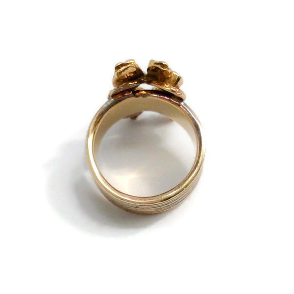 18K Gold and Sapphire Statement Ring by Ilias Lalaounis