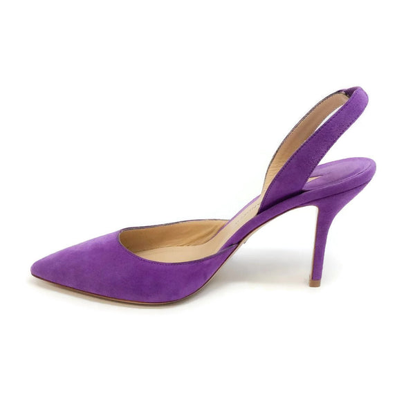 Aw Suede Purple Suede Pumps by Paul Andrew