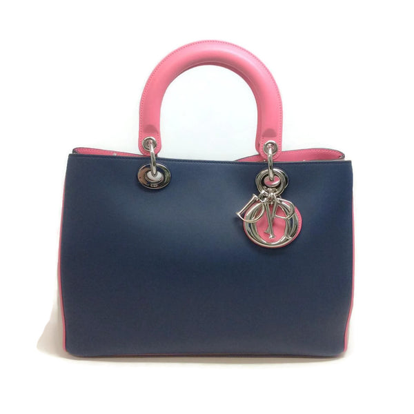 Diorissimo Navy / Pink Satchel by Christian Dior