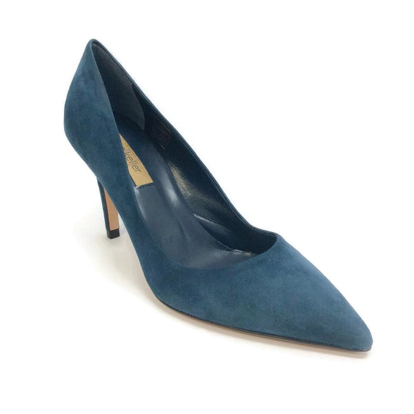 Paige Navy Blue Pumps by Dee Keller