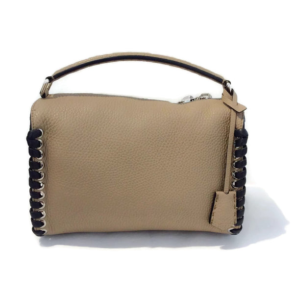 Lei Selleria Tan / Black Satchel by Fendi