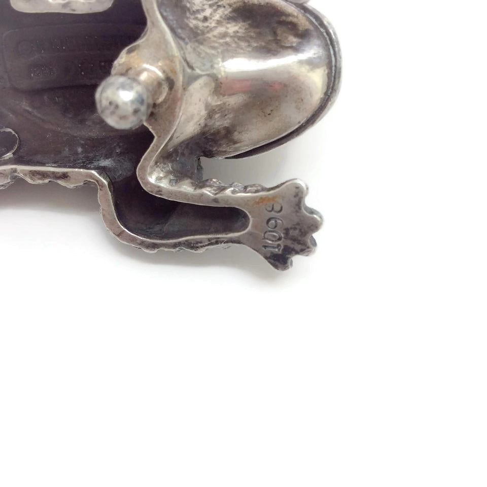 Jumping Frog Sterling Silver Belt Buckle by Kieselstein-Cord