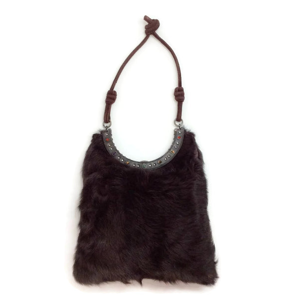 Small Fur With Embroidery Shoulder Bag by Valentino