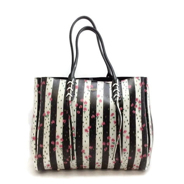 Lanvin Floral Print Leather Multi Tote