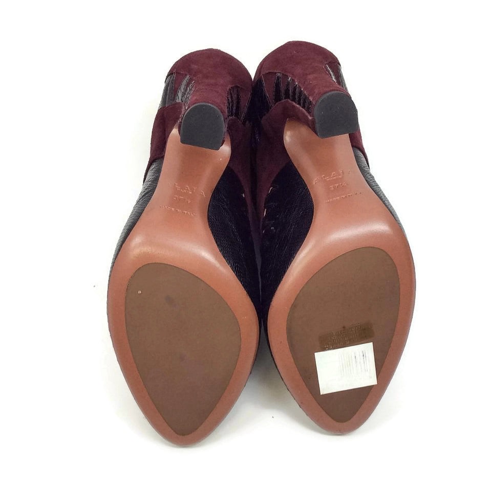 Alaïa Oxford Burgundy/Black Pumps