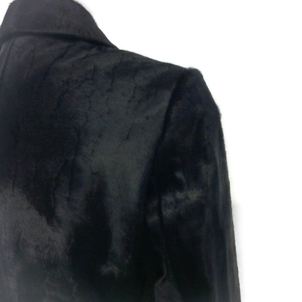 ALAÏA Black Pony Moto Jacket