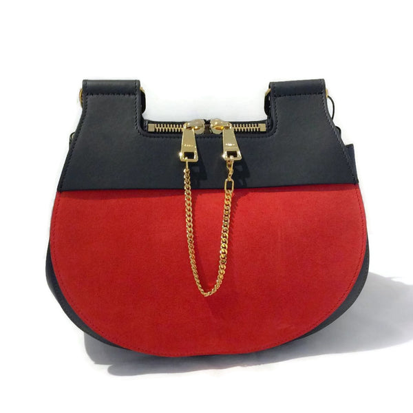 Chloé Drew Messenger Red / Black Messenger Bag