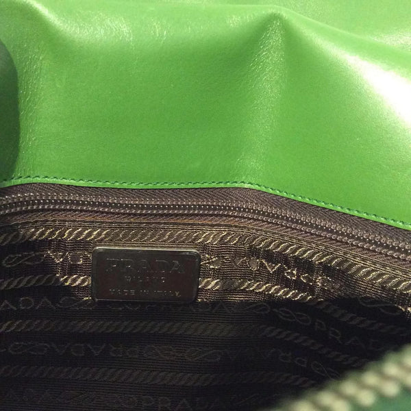 Prada Croc Green Satchel