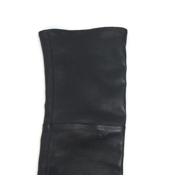 Chanel Stretch Leather Over The Knee Black Boots