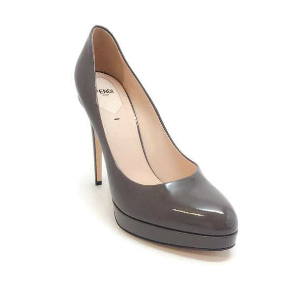Fendi Sophie Patent Leather Carbon Pumps