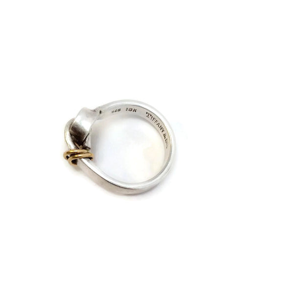 Tiffany & Co. Sterling Silver and 18K Gold Ring