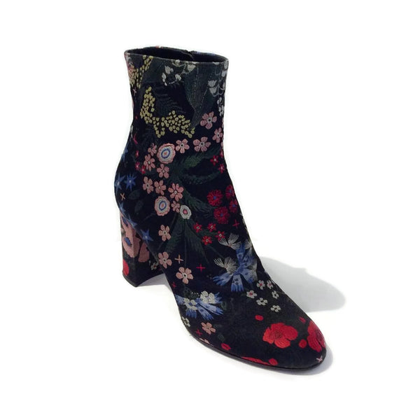 Valentino Spring Garden Ankle Black / Multi Boots