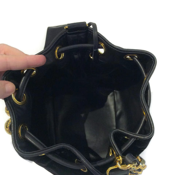 Chanel Vintage Velvet Drawstring Shoulder Bag