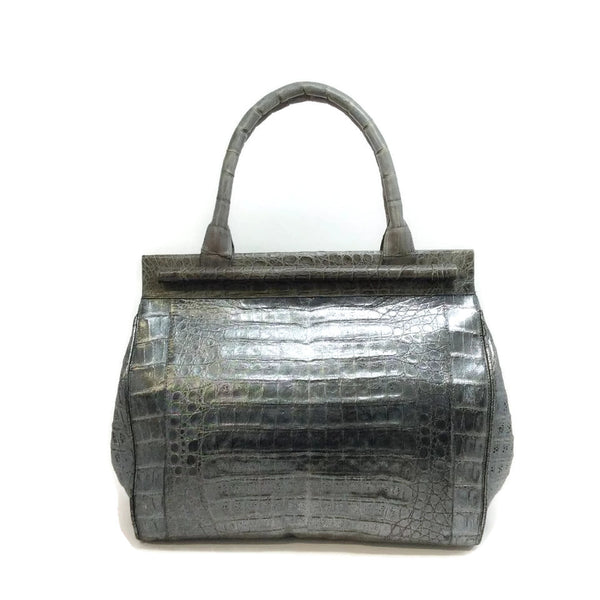 Nancy Gonzalez Croc Gray Satchel
