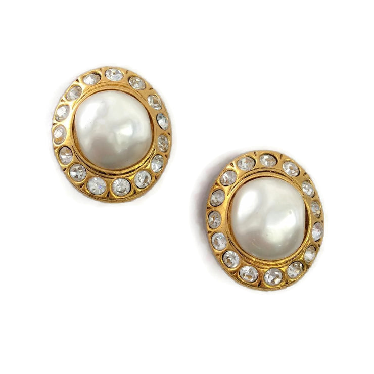 Chanel Vintage 1970's Pearl Earrings