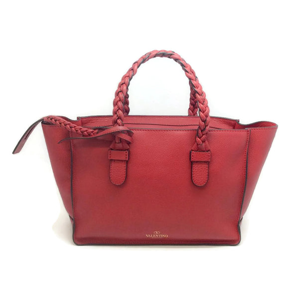 Valentino Braided Small Tote Red Satchel
