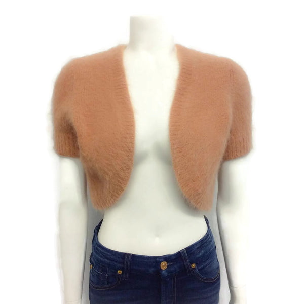 Michael Kors Angora Shrug Sweater Blush