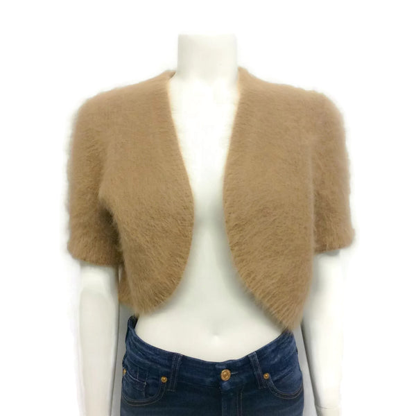 Michael Kors Angora Shrug Sweater Light Brown
