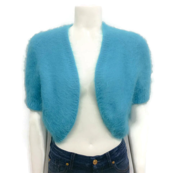 Michael Kors Angora Shrug Sweater Turquoise
