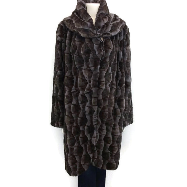 Cassin Mosaic Mink With Draped Fur Coat