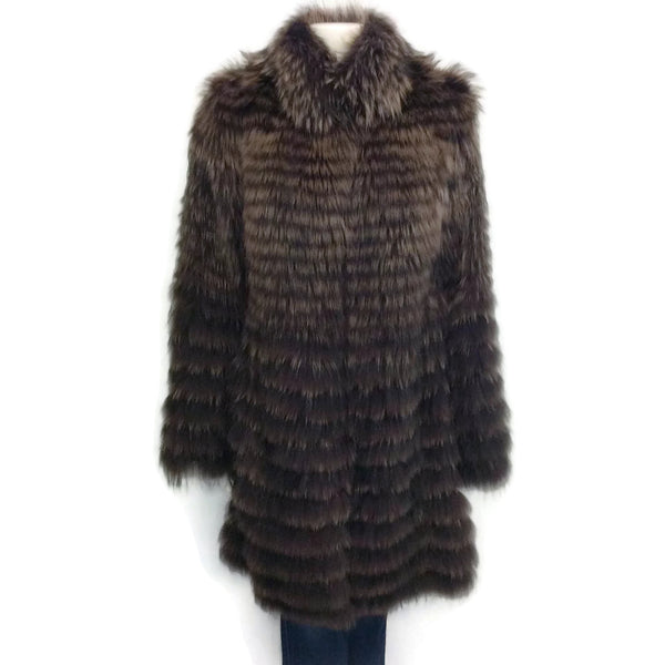 Cassin American And Finn Raccoon Fur Coat
