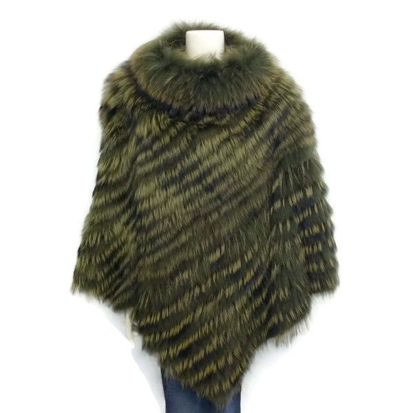 Cassin American And Finn Dyed Raccoon Fur Cape