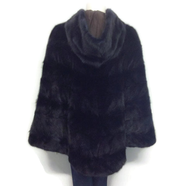 Cassin Dyed Mink With Hood Cape